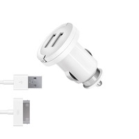 АЗУ 2 USB 2.1А, дата-кабель 30-pin для Apple