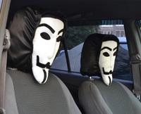 Автомобильные чехлы на подголовник Анонимус (Вендетта) (2 шт)
