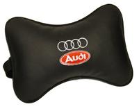 Подушка подголовник из экокожи Audi