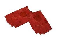 Автомобильные перчатки без пальцев красные размер 7,5