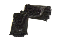 Водительские перчатки женские черные размер 6