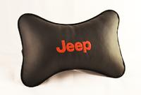 Подушка подголовник из экокожи Jeep