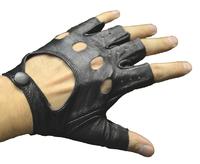 Перчатки обрезанные из пресс-кожи