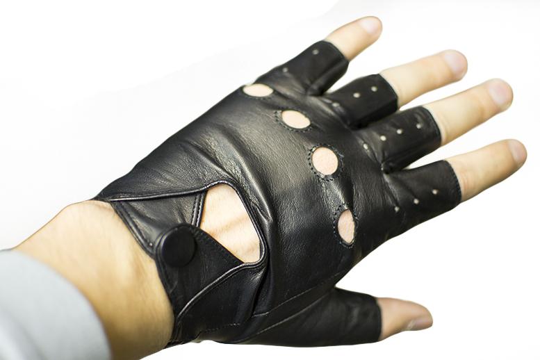 кожаные перчатки без пальцев своими руками