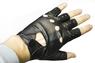 Перчатки без пальцев из кожи ягненка